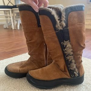 North Face Insulated Suede/Fur Boots